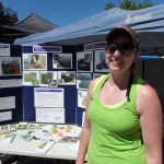 Aquatic invasive species information table at the Penticton Farmers Market