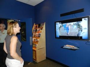 At WaterWorks watching Okanagan WaterWise videos