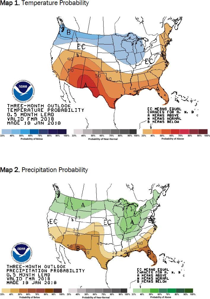 Temperature and Precipitation Probability