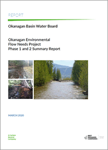 Okanagan Environmental Flow Needs Project - Phase 1 and 2 Summary Report (Associated 2020)