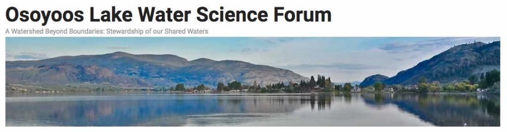 Osoyoos Lake Water Science Forum 2015
