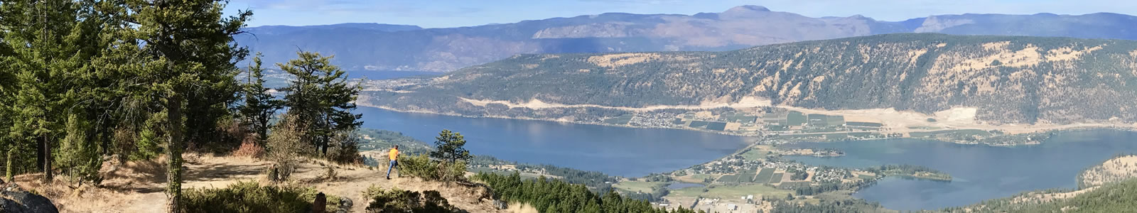 The scenic Okanagan valley